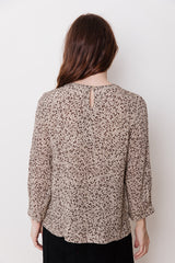 Viscose Blouse, Brown Print