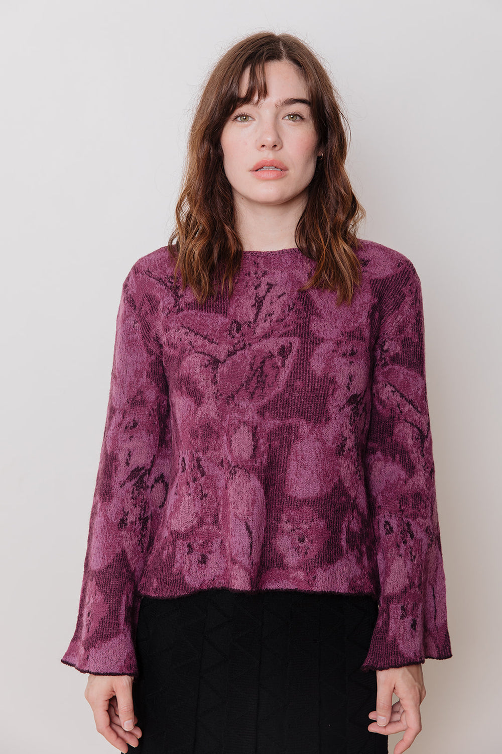 Patterned Sweater, Purple