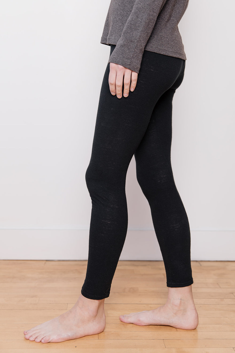Knit Leggings, Black