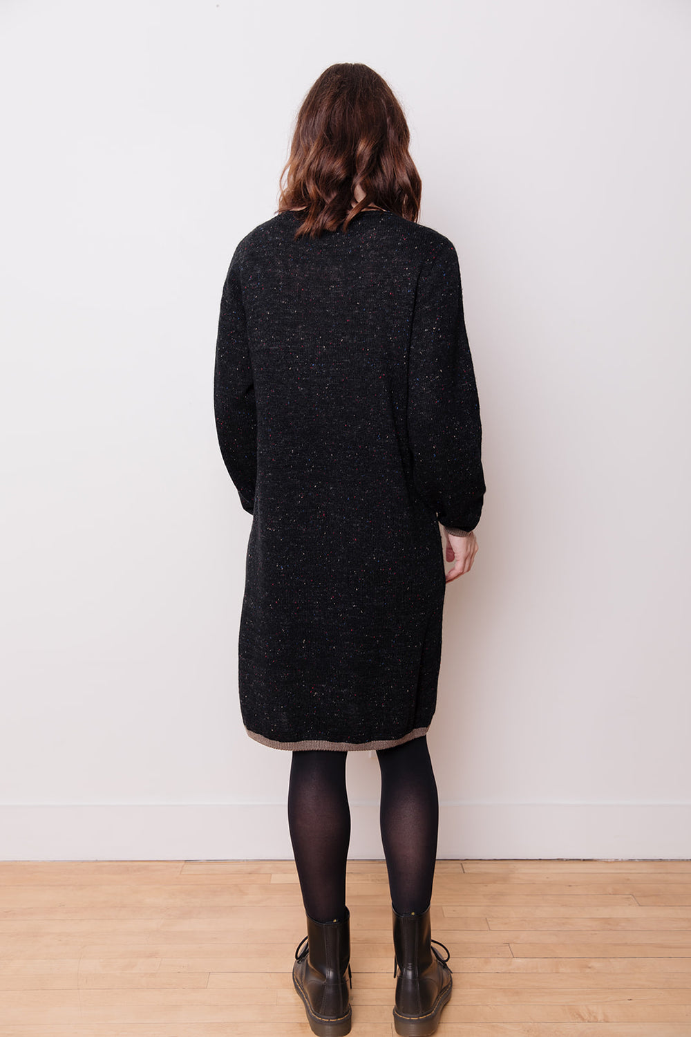 Knit Dress with Pockets, Black