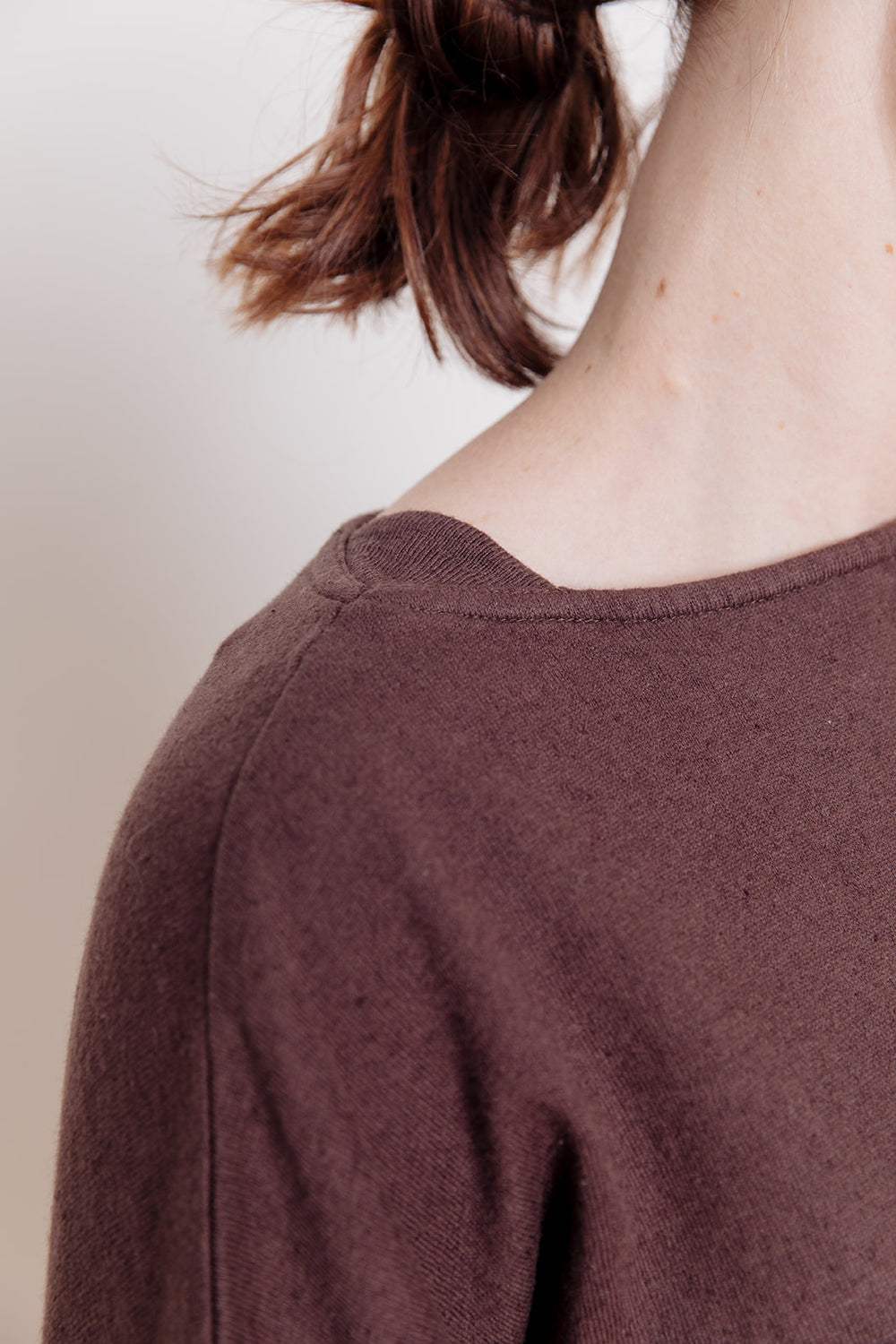 Knit Pullover, Brown