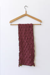 Cotton Knit textured Scarf, Pink