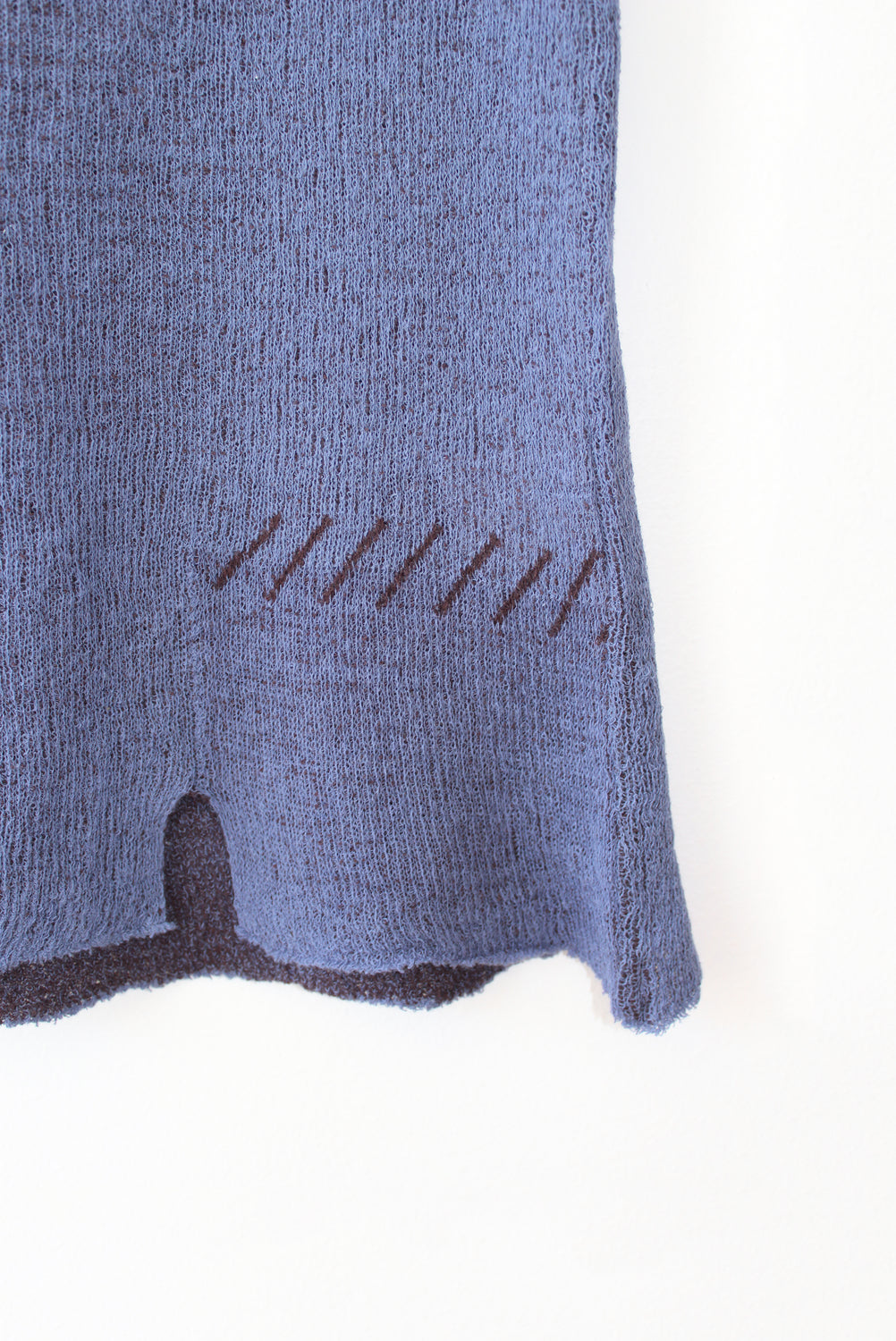 Cotton Knit Sleeveless Sweater, Blue
