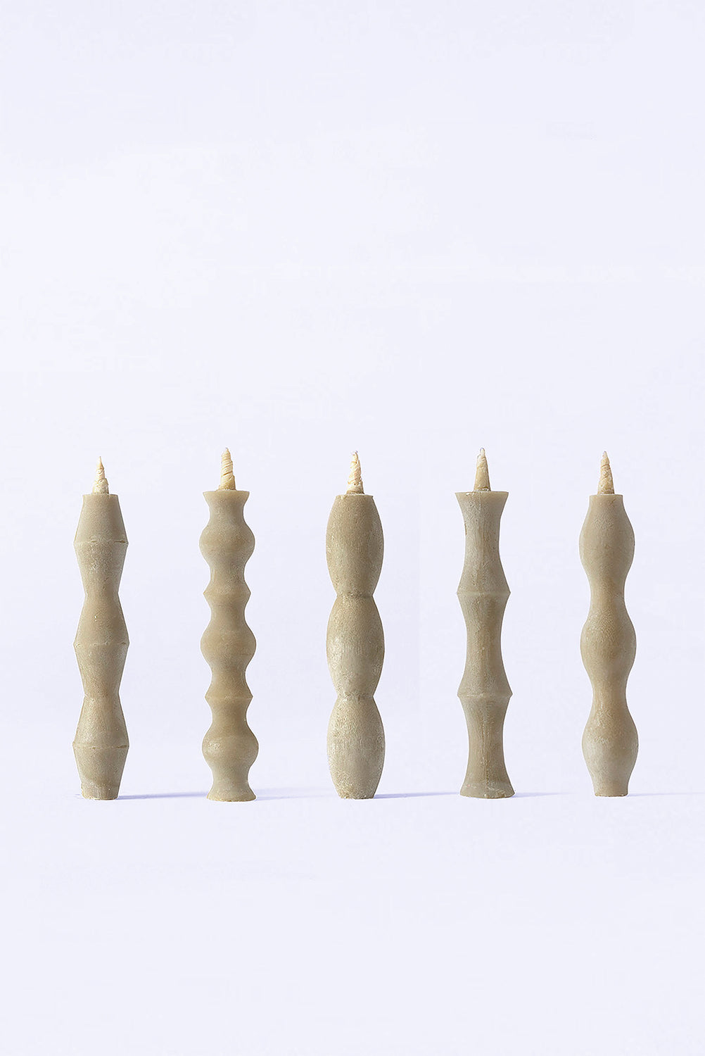 Nanao 5 Piece Candle Set, Grey