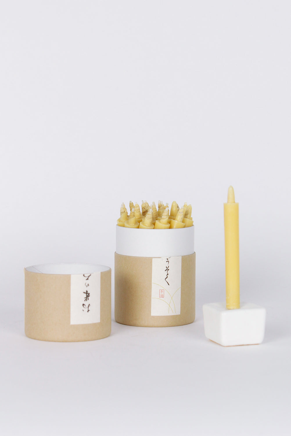 Rice Wax Candle Gift Box