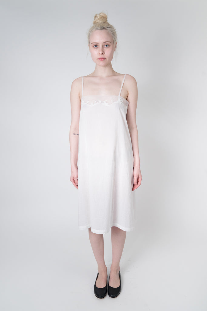 Embroidered Cotton Slip