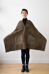 Hand Dyed Military Blanket Cape, Dark