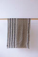 Cotton Scarf with Dots Earth