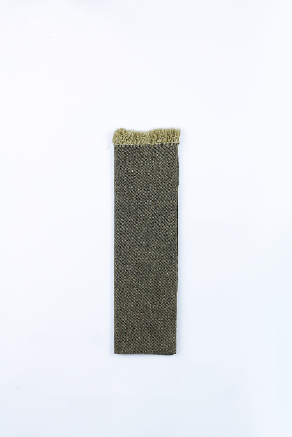 Cotton Tenugui with Fringe, Solid Green