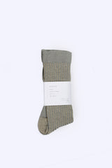 Ribbed Socks, Grey Beige