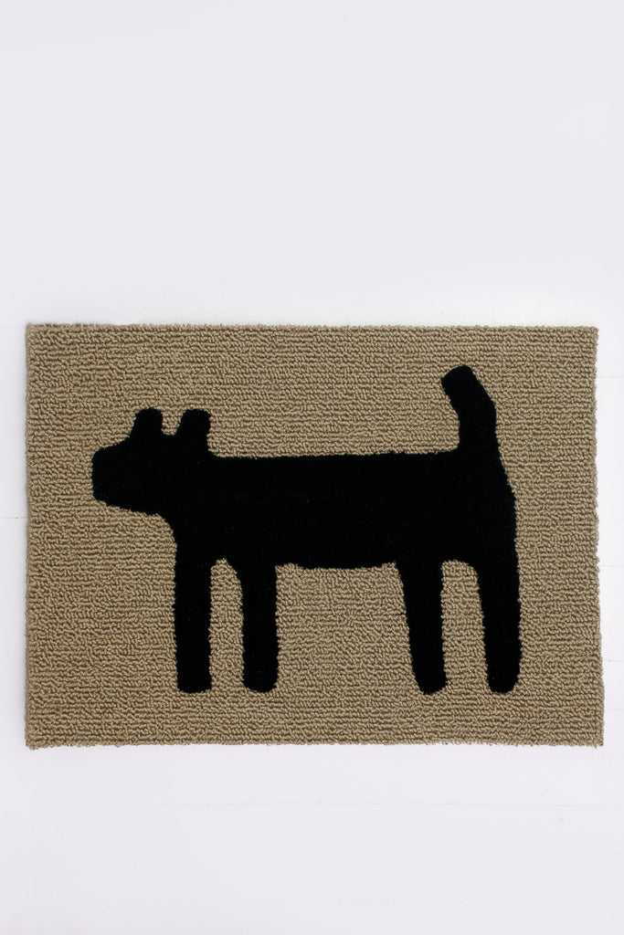 Dog Doormat, Black