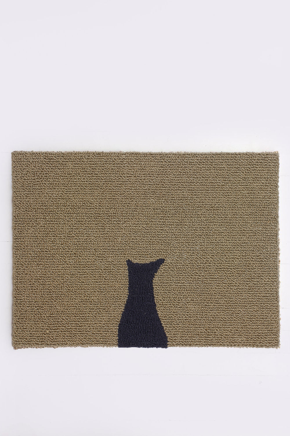 Cat Silhouette Doormat, Gray