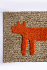 Dog Doormat, Orange