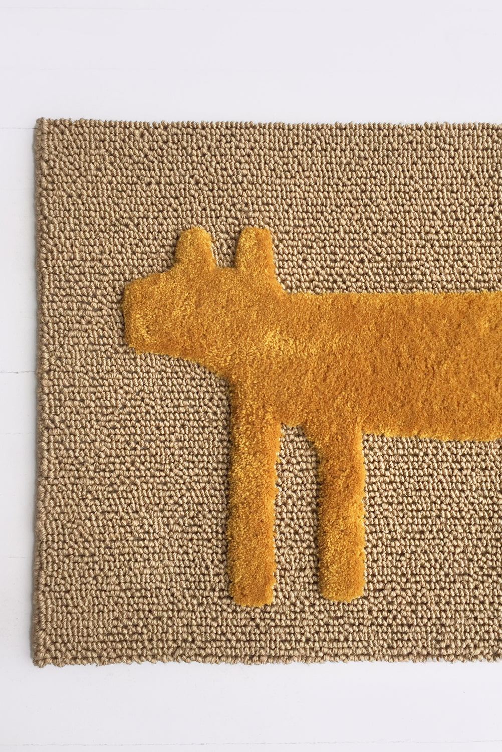 Dog Door Mat, Mustard