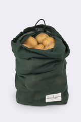 Organic Cotton Food Bag Dark Green