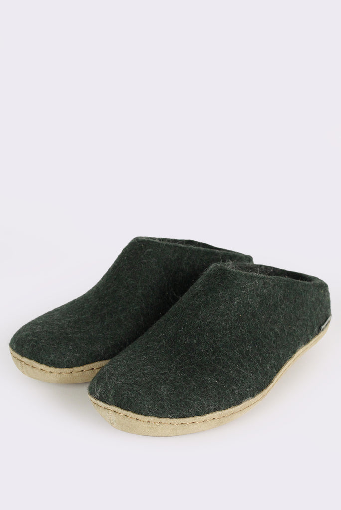Forest Green Slippers