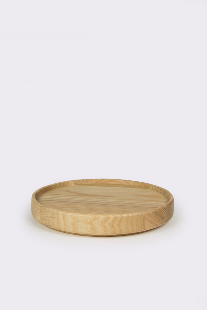 "Ash Wood Tray, 5.6"" Diameter"