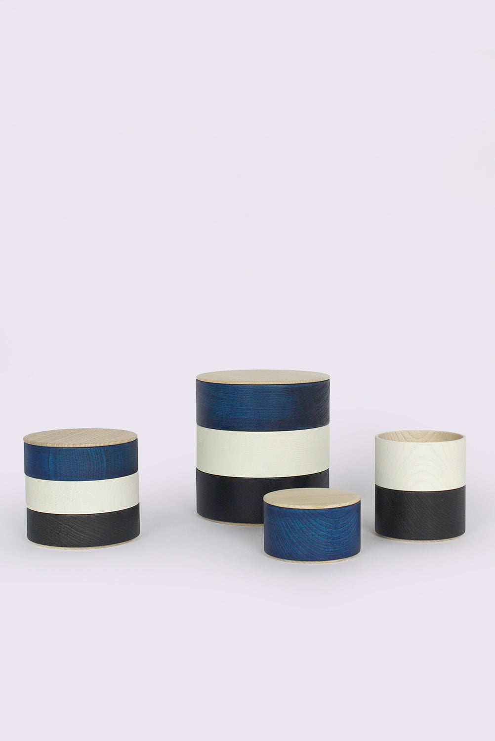 Border 3-Tier Containers, Navy