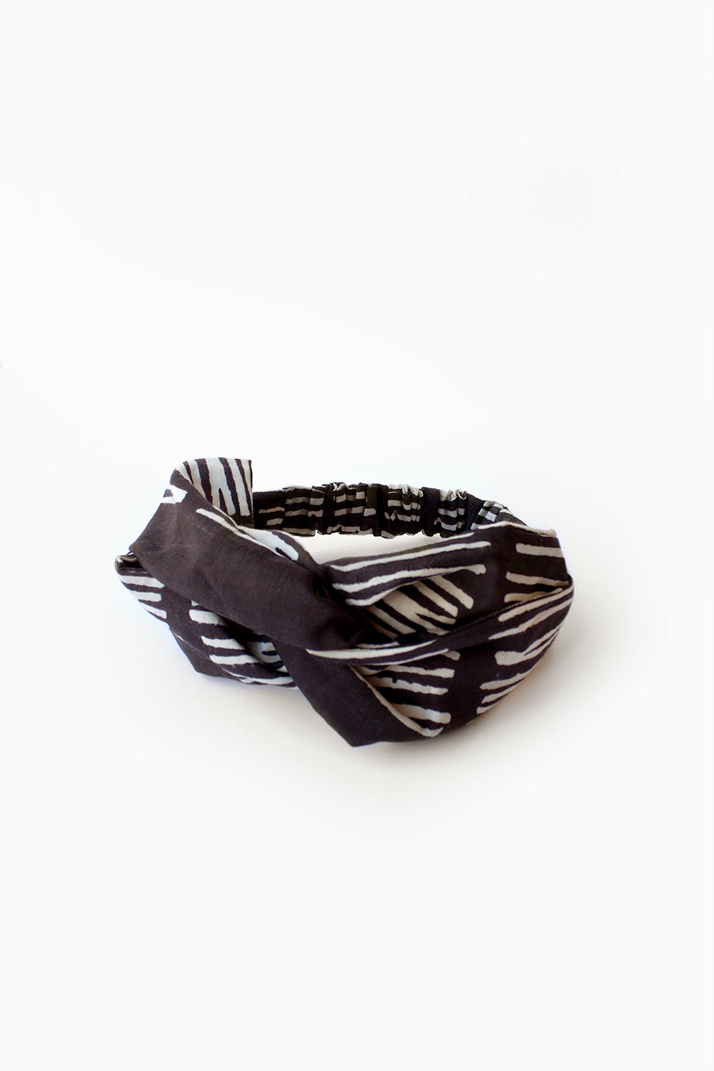 Hair Band, Line Check Black