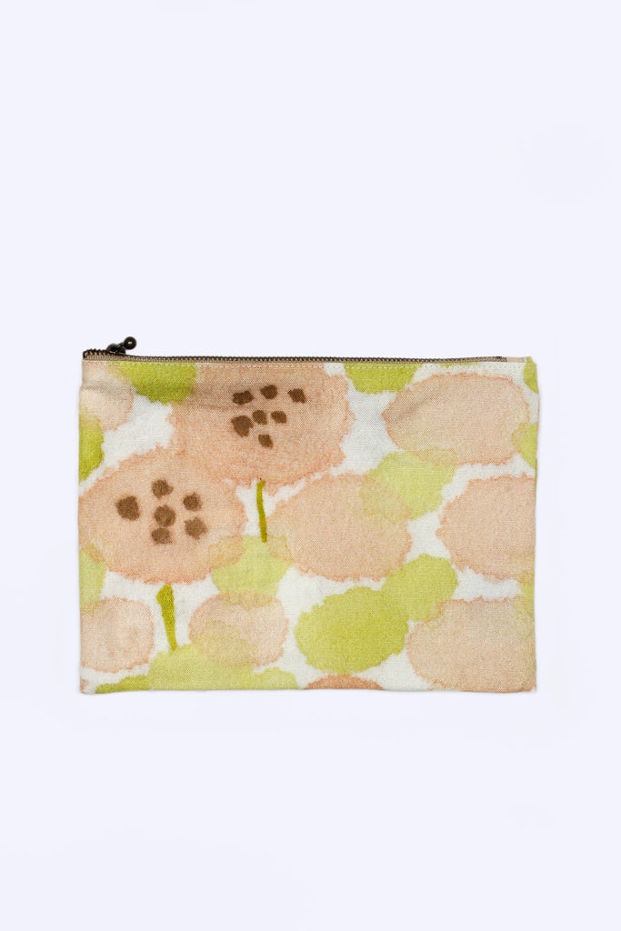 Flat Pouch (Green and Pink)