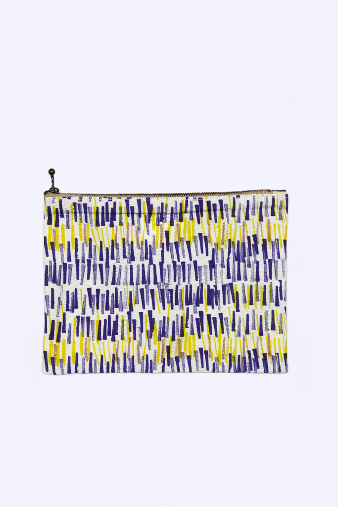 Flat Pouch (Yellow and Purple Lines)