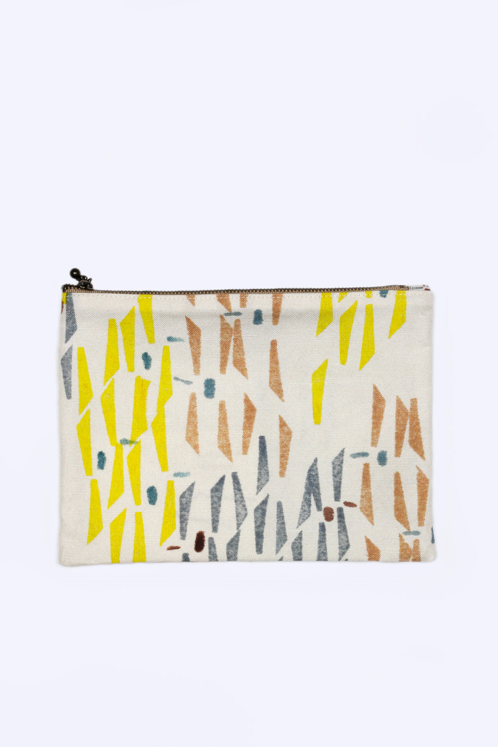 Flat Pouch (Yellow, Blue, Brown)