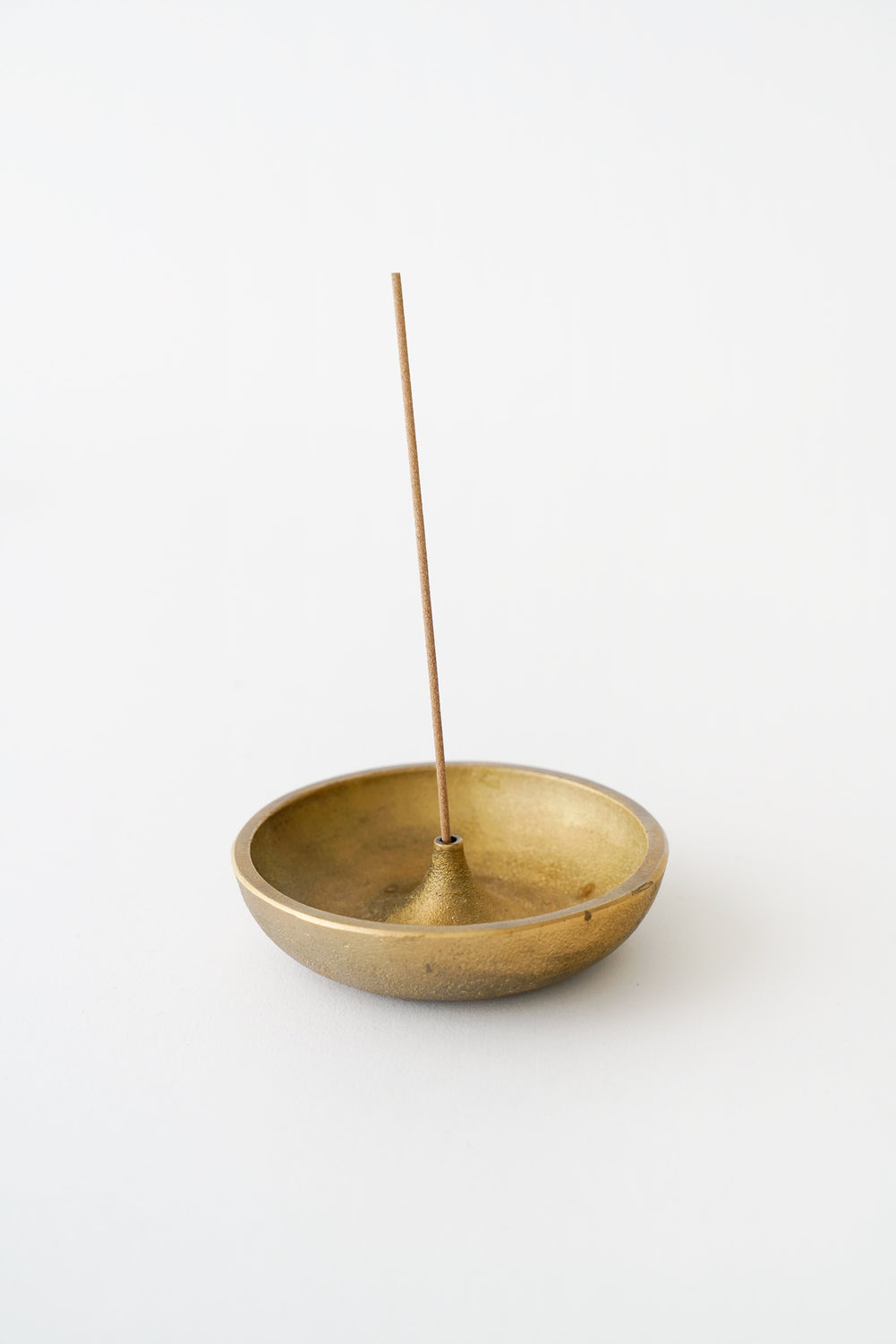 Round Brass Incense Holder