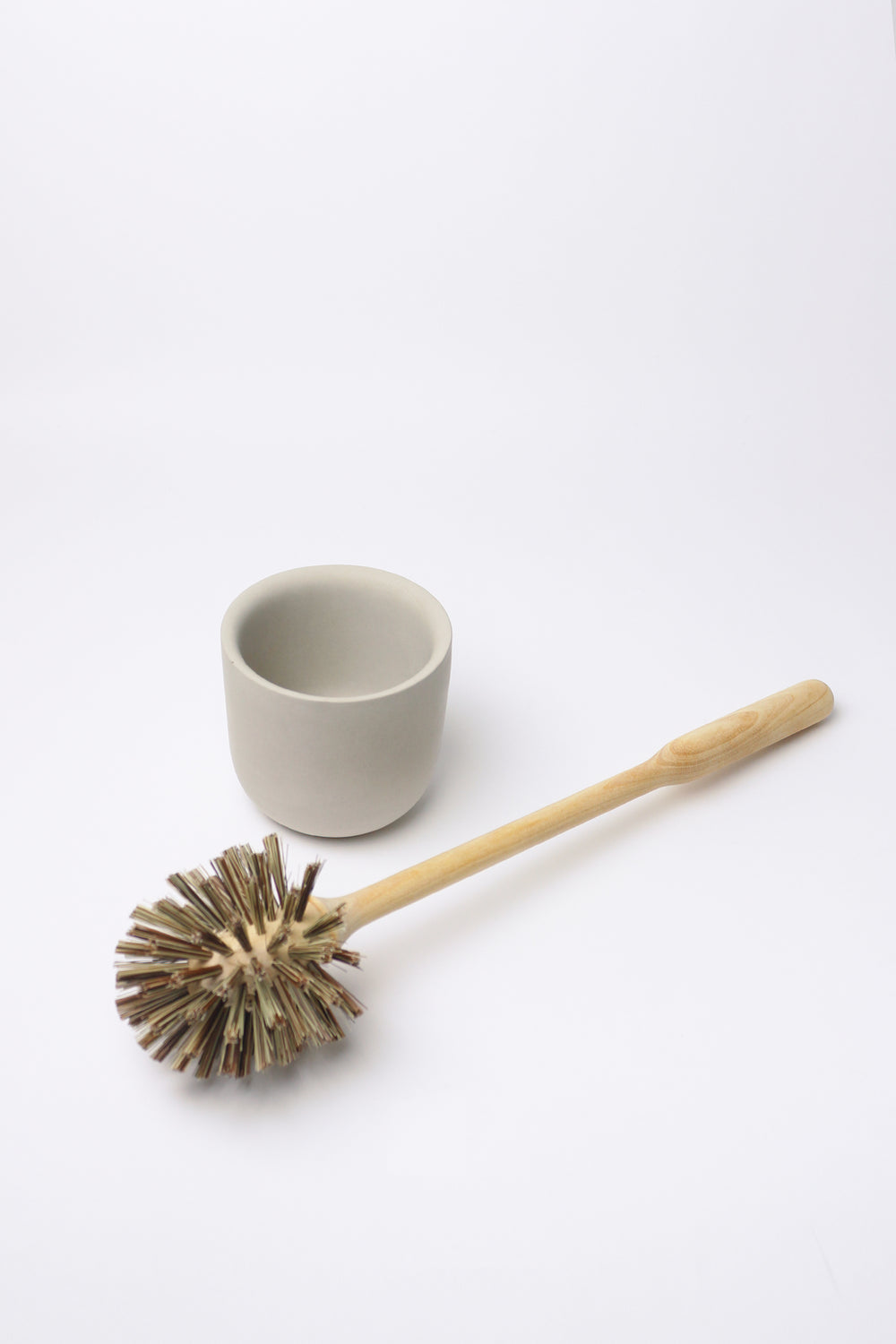 Toilet Brush with Concrete Cup