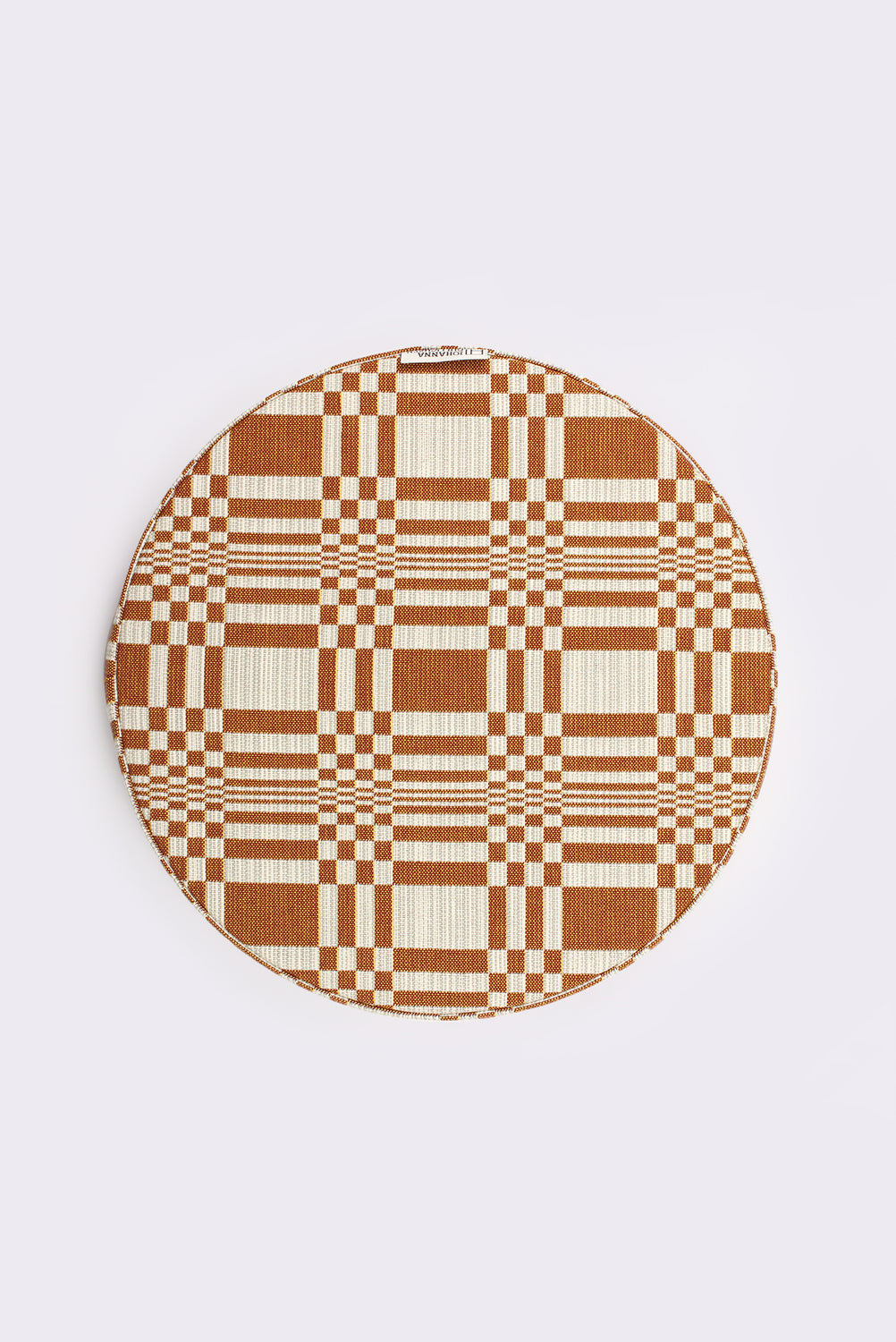 Round Doris Cushion, Brick (B)
