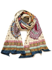 Compressed Wool Scarf FAIR ISLE FIVE RINGS