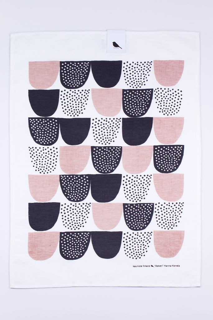 Sokeri Tea Towel, Pink