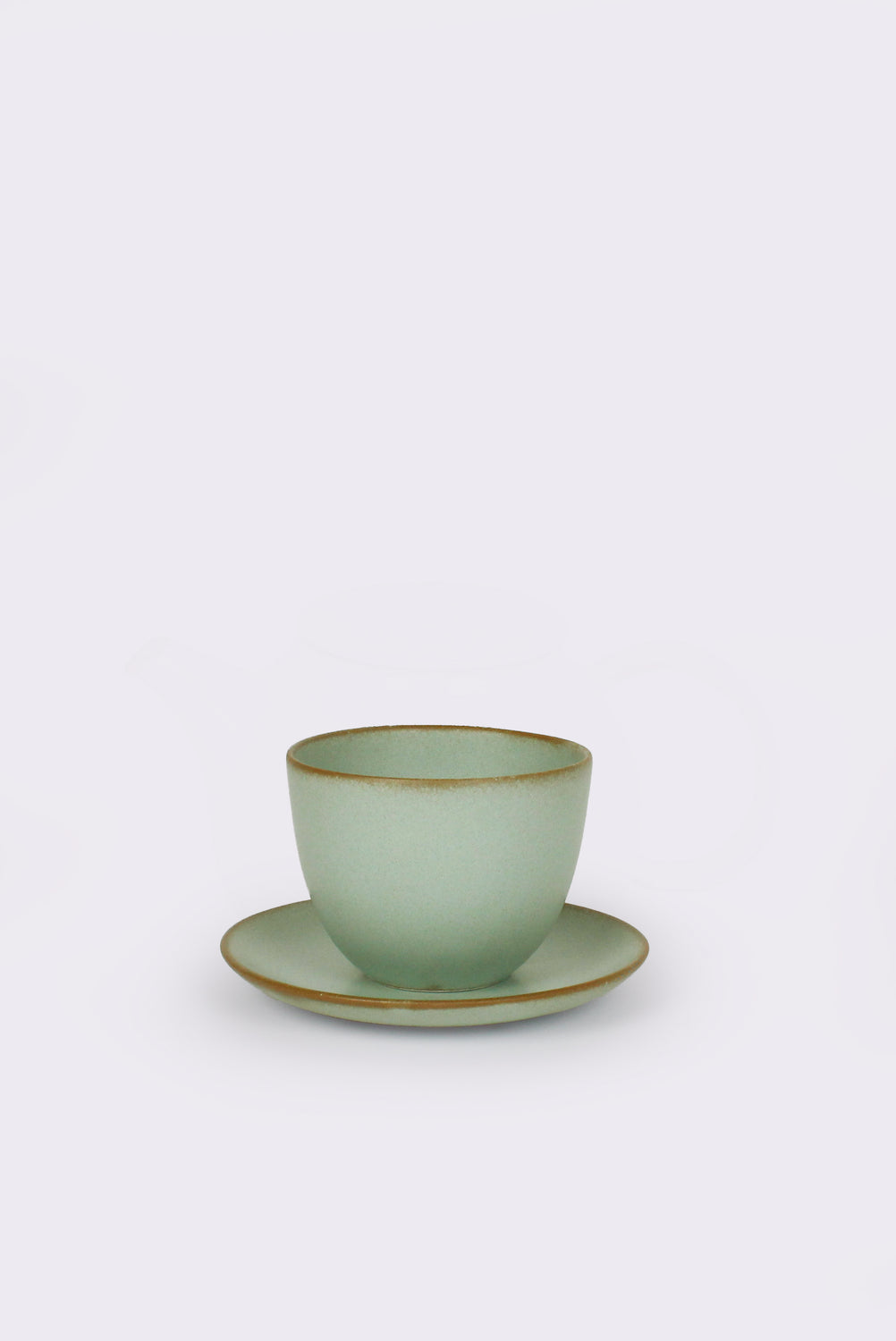Pebble Cup and Saucer (Moss Green)