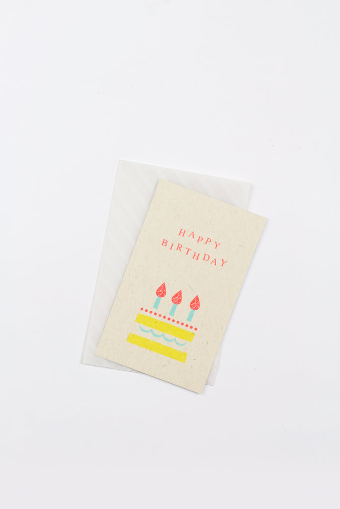 Message Card, Happy Birthday (Cake)