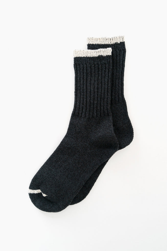 Silk Cotton Socks Black