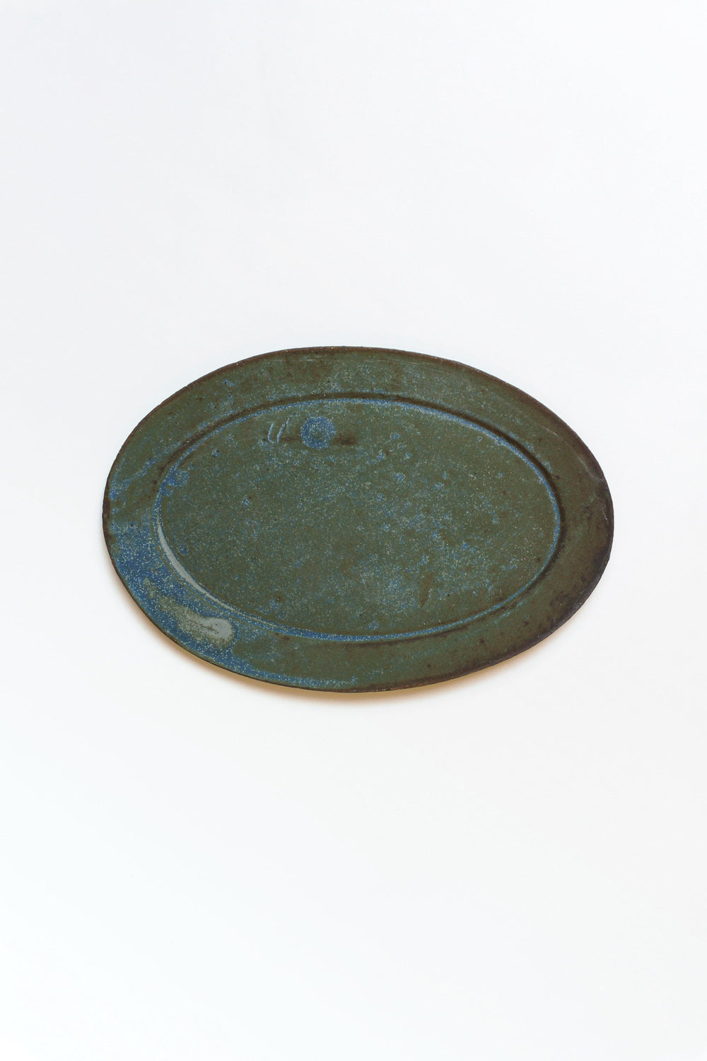 Oval Plate, Blue