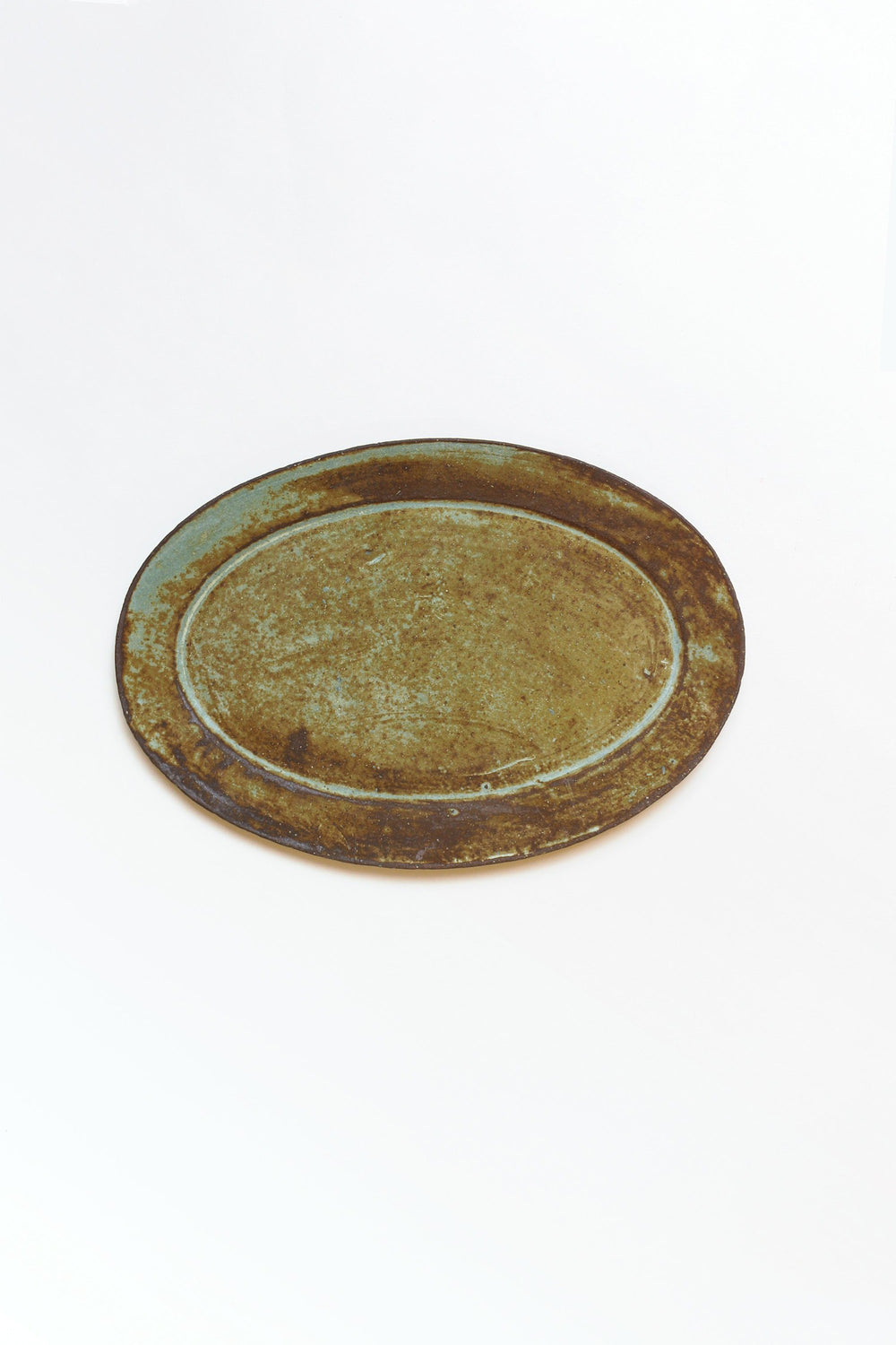 Oval Plate, Brown
