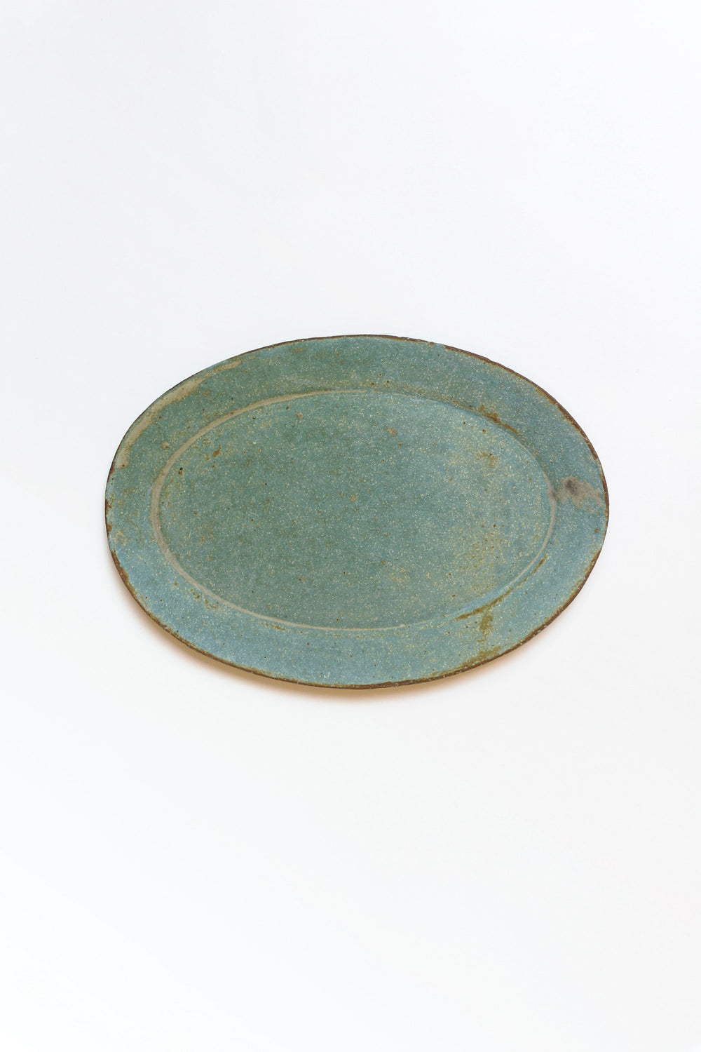 Oval Plate, Green