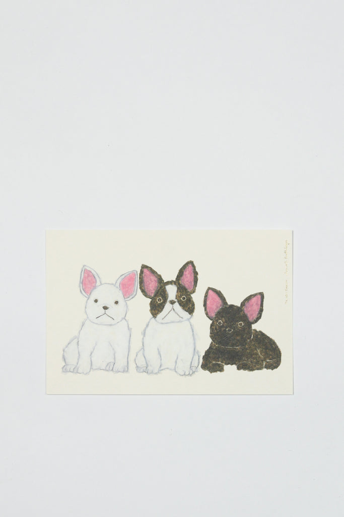 Postcard with Three Dogs