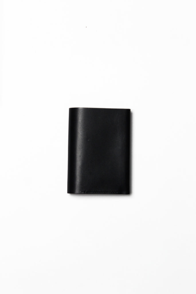 Pressed Cotton Card & Coin Wallet, Black