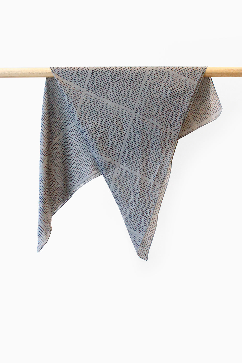 Seed Check Grey Scarf