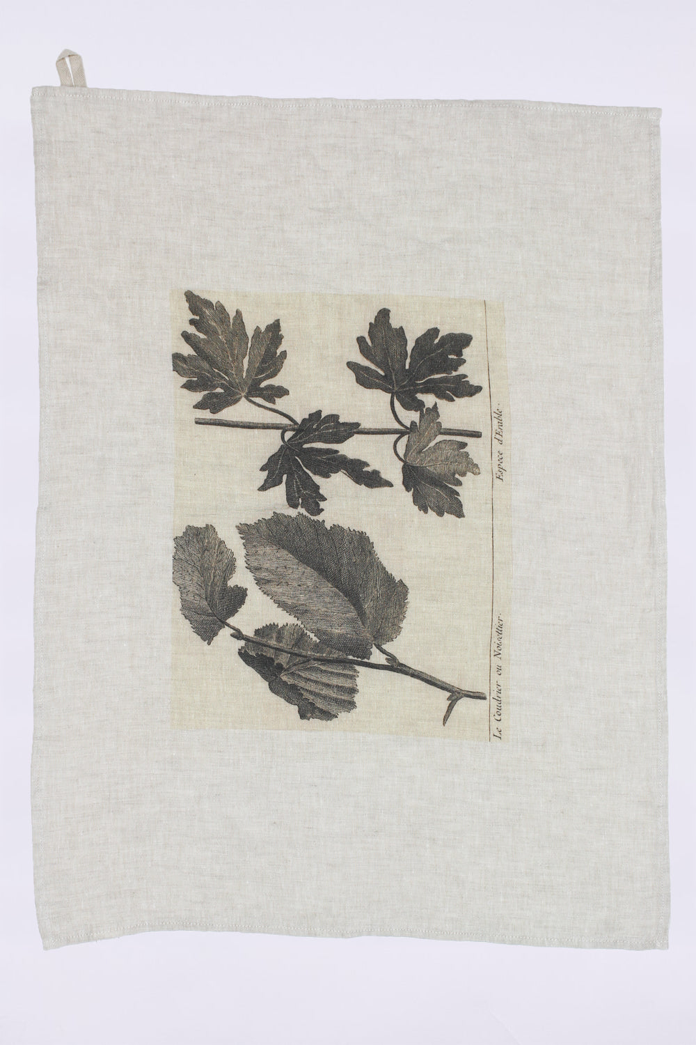 Leaves Linen Dish Towel