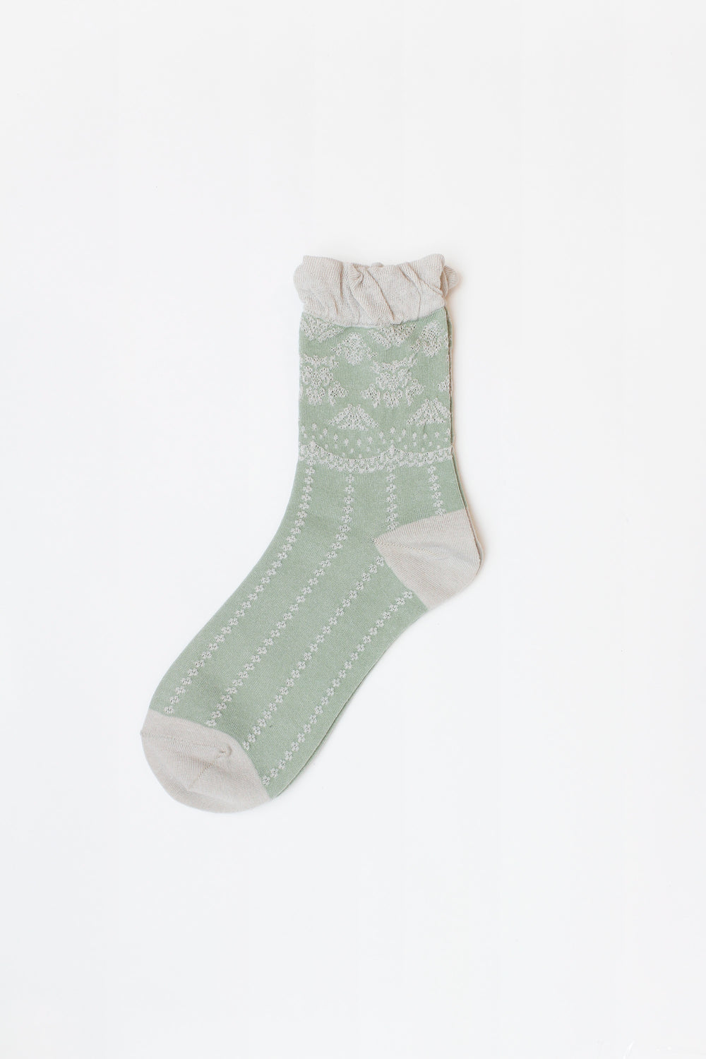 Lacey Ankle Socks with Ruffle