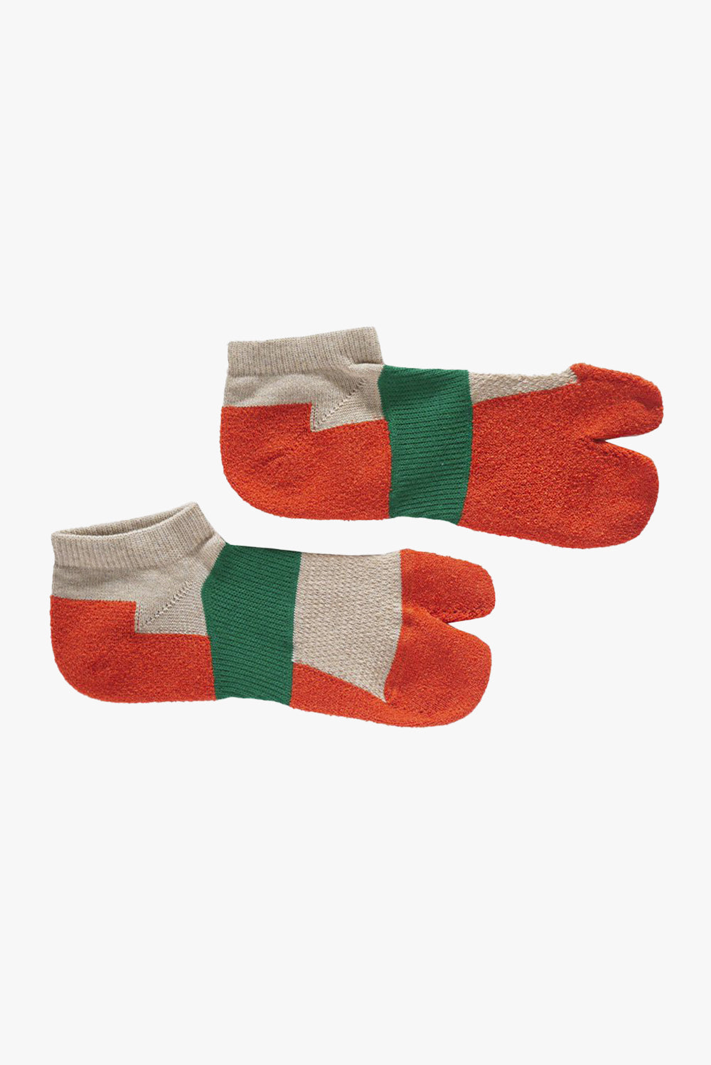 Tri-Color Tabi Socks, Beige