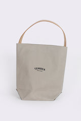 Baguette Tote with Leather Strap, Grey
