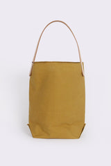 Baguette Tote with Leather Strap, Ochre