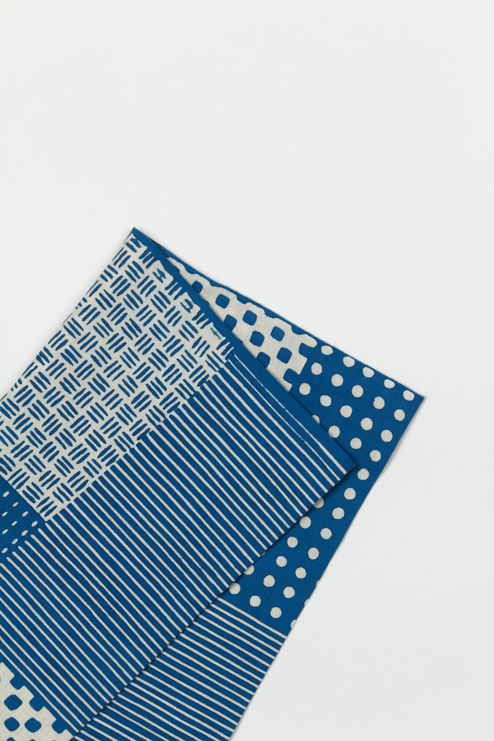 Tenugui Patchwork Blue