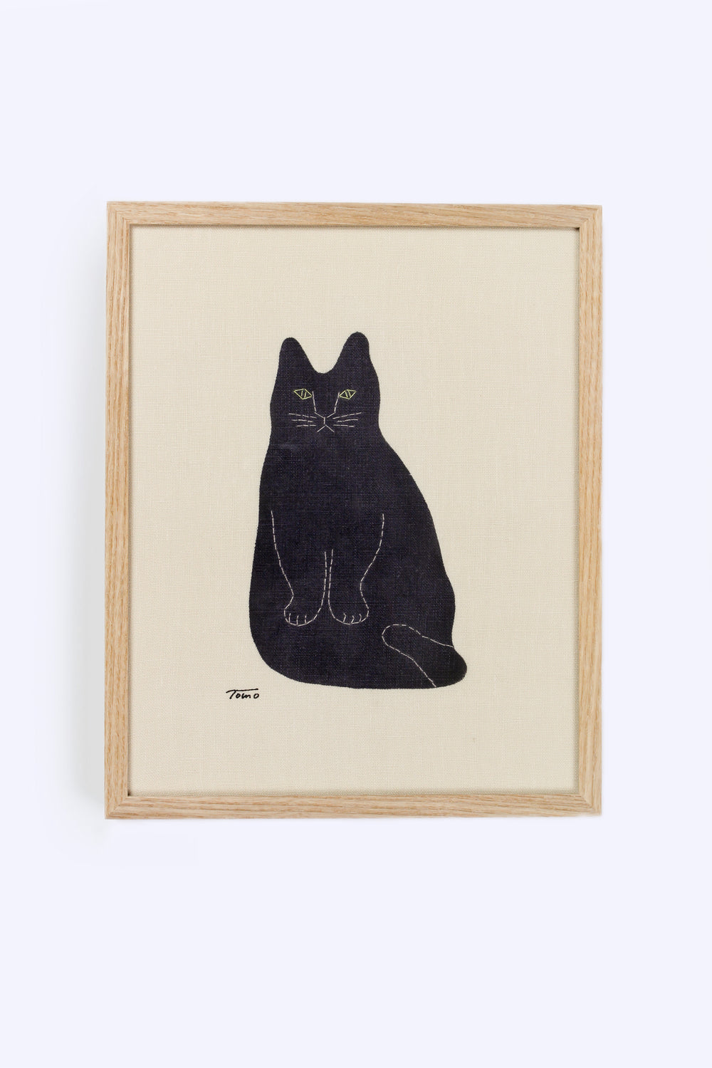 Framed Fabric Black Cat