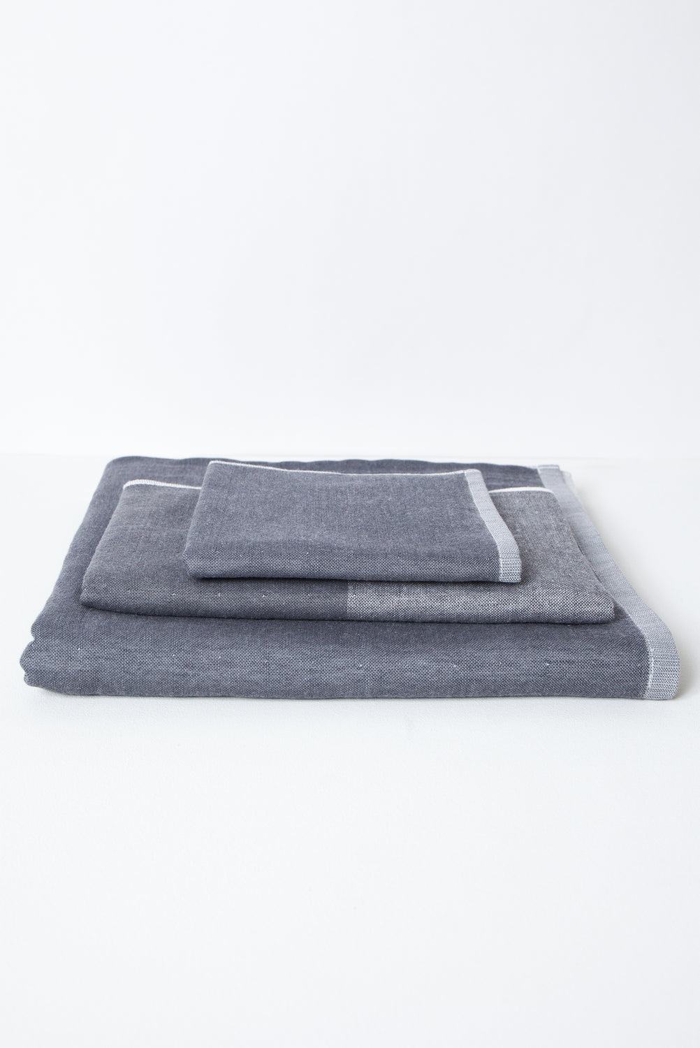 Two Tone Chambray Towel