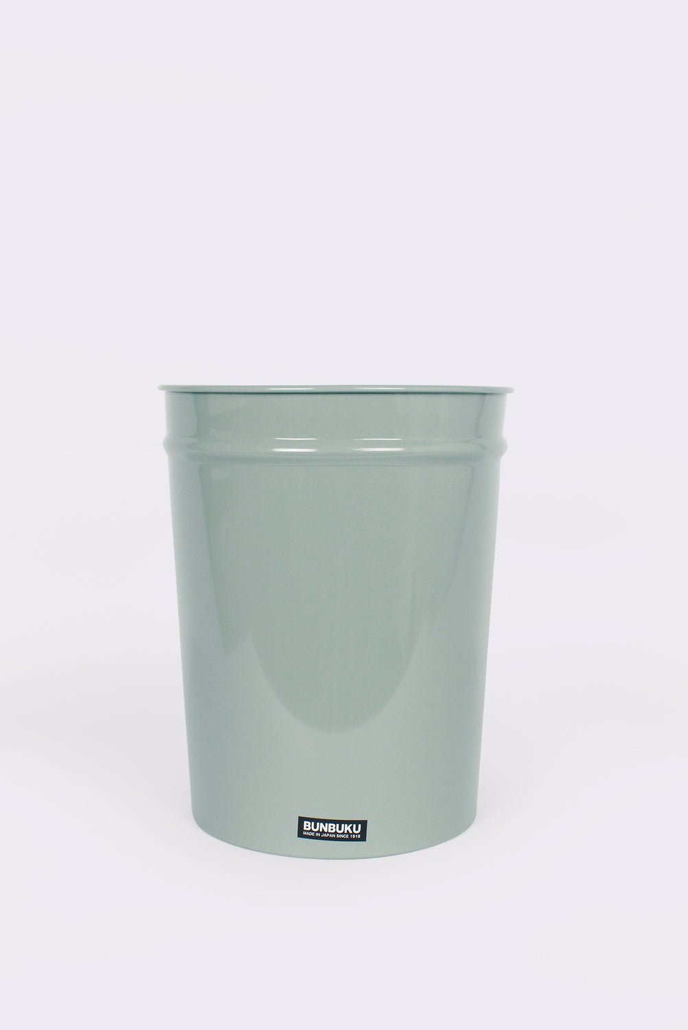Short Tapered Waste Basket, Gray