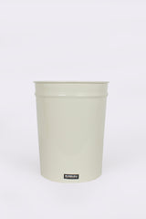 Short Tapered Waste Basket, Ivory
